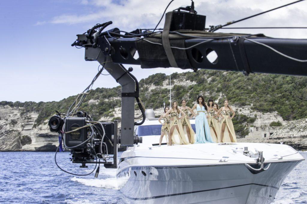 Tournage avec Jimmy Jeep sur un yacht en Corse.