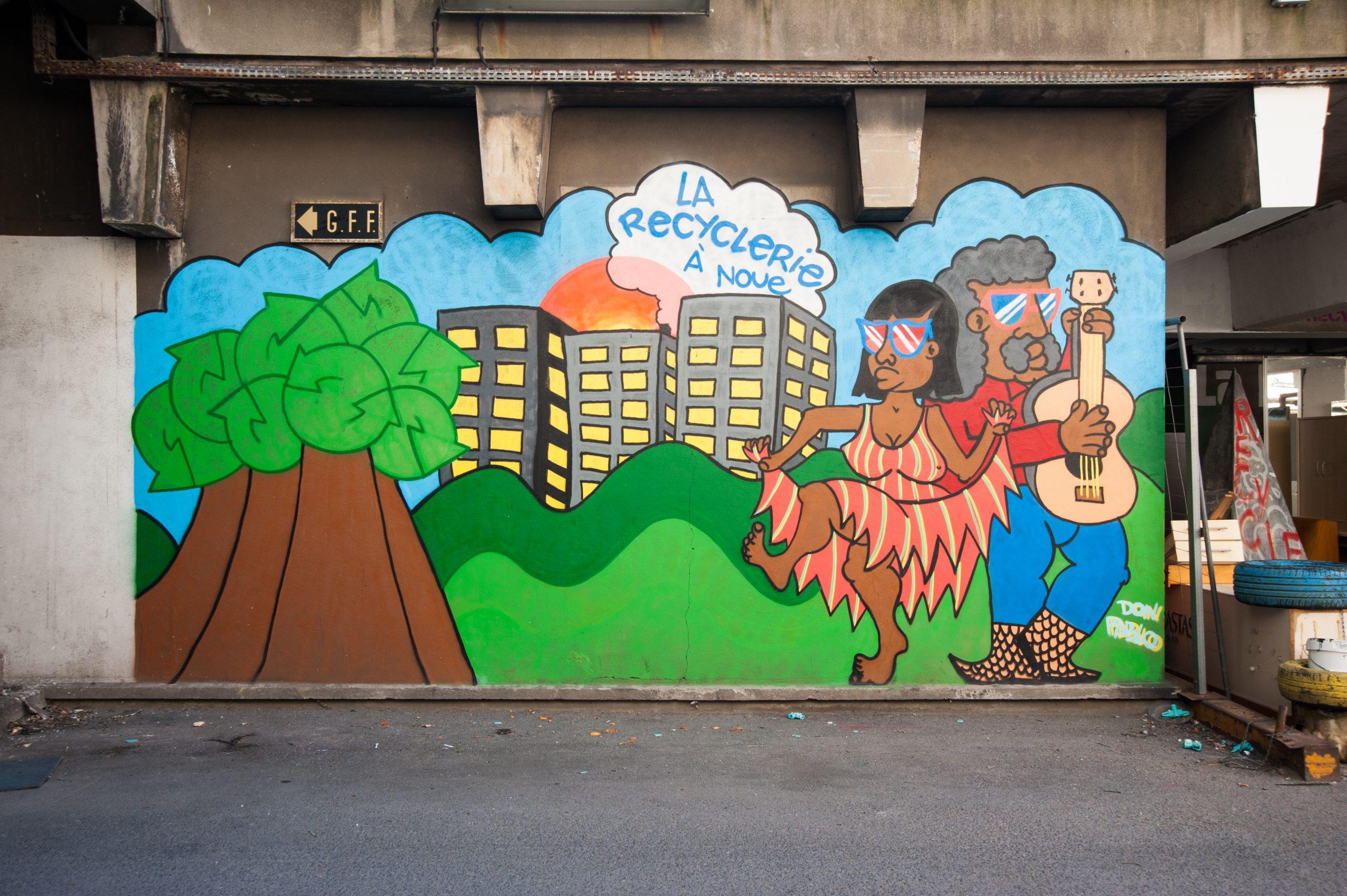 Projet STREET ART - la Recyclerie de La Noue à Bagnolet