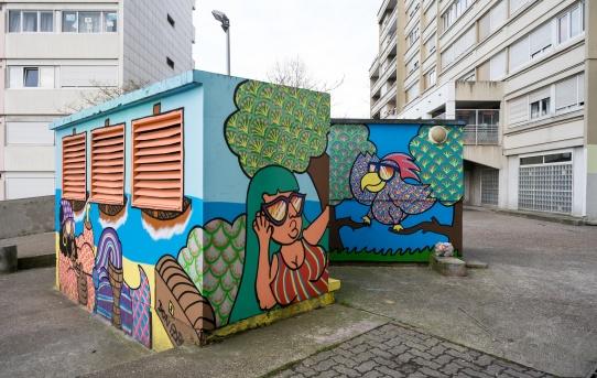 Fresque murale pour le projet îlot 27