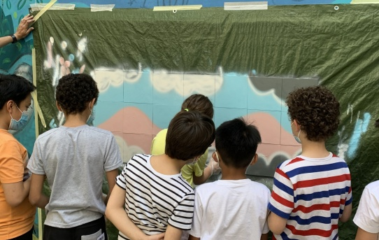 Atelier Graffitis à l'école élémentaire Argenteuil de Paris